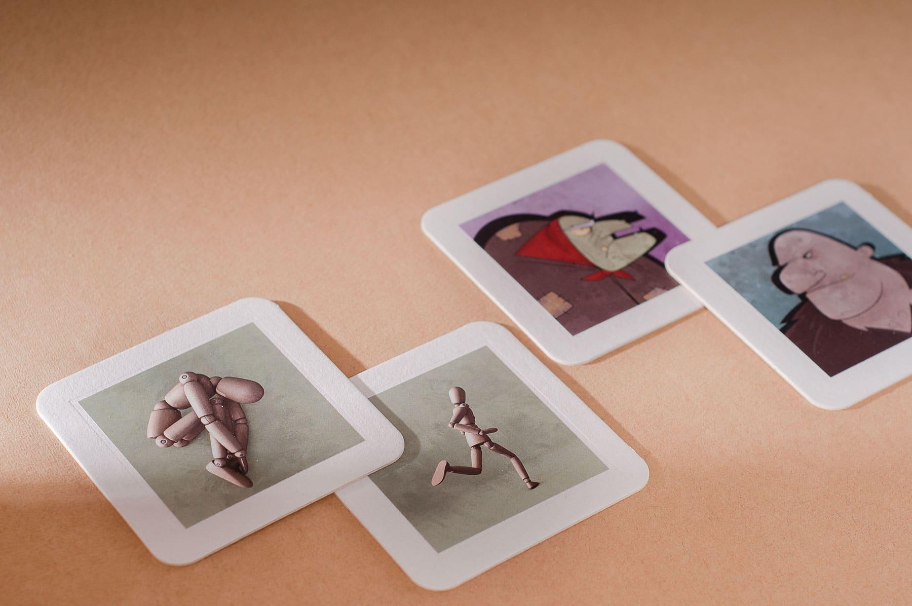 Prototypen der mishugge Bildimpulskarten – tools for therapy.